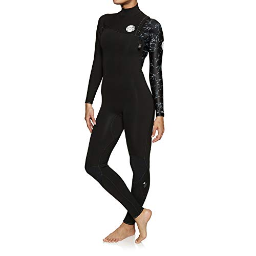 Rip Curl Dames G Bomb 4/3MM Zip Free Wetsuit Zwart - Easy Stretch