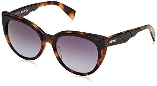 Just Cavalli Damen JC836S Sonnenbrille, Braun (Havana/Other/Smoke Mirror), 56