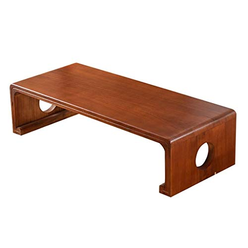 CDingQ Table de salle de réunion de réception rétro - Table basse lisse - Résistante à l'humidité - Rectangulaire - Balcon - Recette de livres, Bois, 70*40*30cm