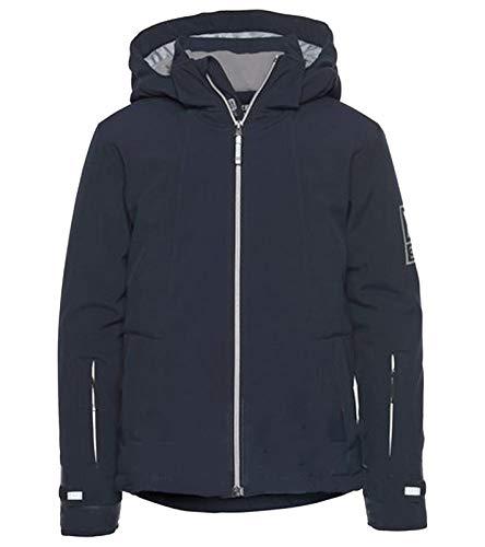 XS Exes Softshell-Jacke gefütterte Outdoor-Jacke für Jungs Übergangs-Jacke Wander-Jacke Blau, Größe:128/134