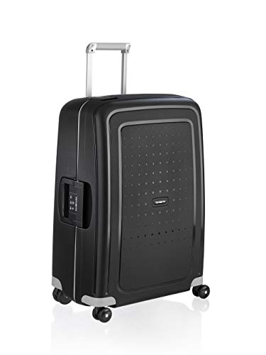 Samsonite S'Cure Spinner M Valigia, 69 cm, 79 L, Nero (Black)