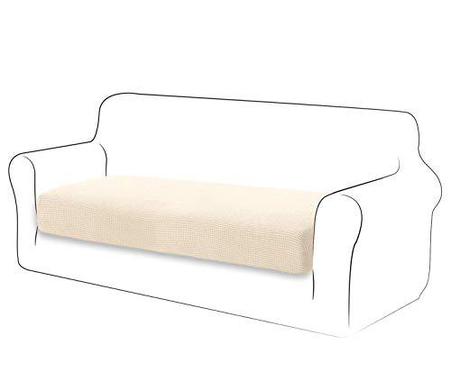 TIANSHU Fodera per Cuscino ad Alta Elasticità Cuscino per Divano Fodera per mobili Protezione per Divano Coprisedile per Divano Fodere per Cuscino a 2 Posto Pezzo per Sedia (2 Posto, Avorio)
