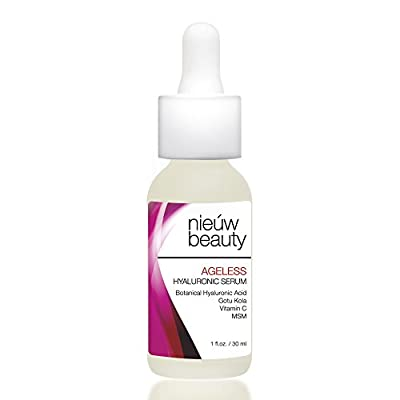 AGELESS HYALURONIC SERUM by nieuw beauty. Anti-Aging & Hydrating Serum for Women and Men. Botanically derived Hyaluronic Acid. Non-greasy with instant hydration and plumping. All Skin Types