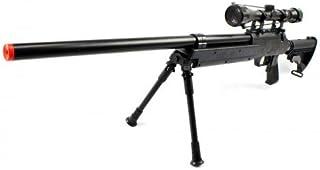 Spring Bolt Action Well m187d fps-550 Metal Airsoft Sniper Rifle Gun w/Scope, bi-pod(Airsoft Gun)