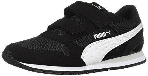 PUMA Unisex Kid's ST Runner Hook and Loop Sneaker, Black-White-grayviolet, 12.5 M...