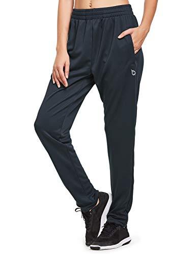 BALEAF Women's Athletic Sweatpants Joggers Active Sweat Pants Comfy Running Lounge Zipper Pockets Grey Size XL