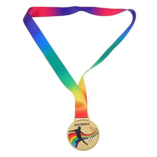 Cabilock 2 Piezas de Oro de Aleación de Zinc Medallas Ganadoras Medallas de Competición de Baloncesto Medallas de Competición Deportiva Medallas Día de Deportes Premios (Fútbol)