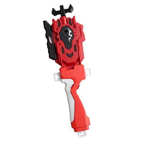 FLAMEER Hochwertige Kampfkreisel String Launcher mit Griff Kit aus Kunststoff, Tolles Geschenk für Kinder - Rot