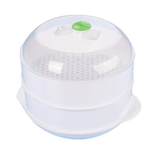 Boji Cocina al vapor para el microondas - Cocina al vapor - Microondas - Vaporera para microondas - Bandeja para cocinar al vapor - Color blanco