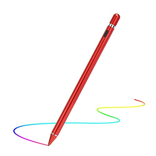 Chutoral Stylus Pen for Touch Screens, Rechargeable Digital Pen Active Pencil Fine Point Compatible for Phone, Pad, Android phone & Tablet(Red)