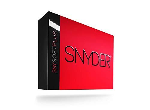SNYDER - SNY Soft Plus Premium Golfbälle | 12 Stück | Ideal für: Weite Distanzen, gerade Flugbahnen & maximale Kontrolle | Golfball Farbe: Neon Red Matte