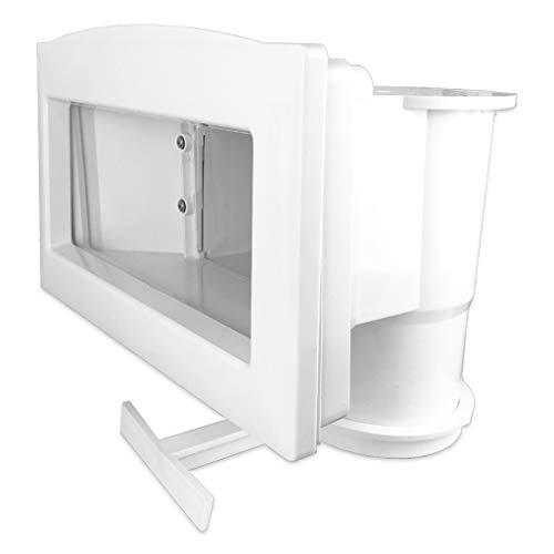 well2wellness ABS Pool Skimmer Breitmaulskimmer Set mit erweiterter Öffnung + Skimmerblende