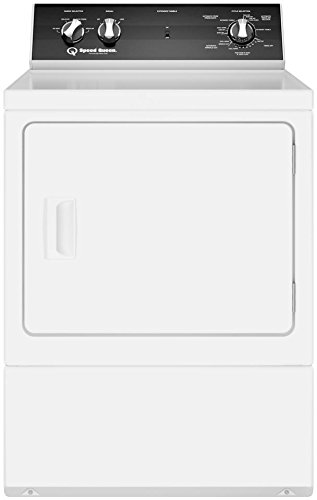 Speed Queen DR5000WE 27 Inch Electric Dryer with 7 cu. ft. Capacity, 4 Dry Cycles, 4 Temperature Settings, in White