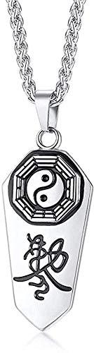 NC66 Yin Yang Gossip Symbol Colgante Hombres s Demon Protection Ghost Hunter Collar de Acero Inoxidable