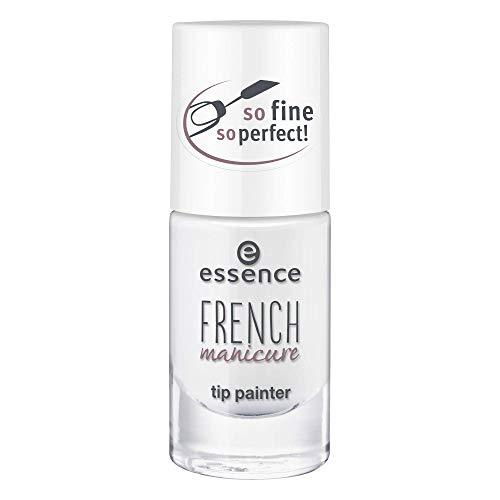 essence FRENCH manicure tip painter, French Maniküre, Nr. 01 it's perfectly fine!, weiss, aufhellend, French Manicure, intensiv, natürlich, ohne Aceton, vegan, ohne Konservierungsstoffe (8ml)