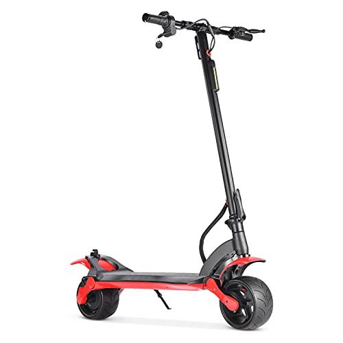 YREIFAG Patinete eléctrico, Scooter Eléctrico Plegable 500W- Batería 8.8AH - Neumáticos de 9'- Pantalla LCD - MAX Velocidad 25 km/h - Autonomía ilimitada hasta 25 km E-Scooter