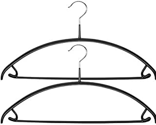 Mawa Reston Lloyd Euro Series Non-Slip Space-Saving 42/U Clothes Hanger with Bar and Hooks for Pants and Skirts, Set of 2,...
