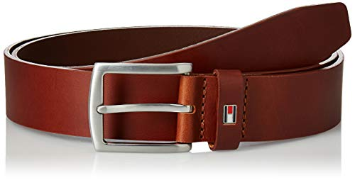 Tommy Hilfiger Herren Gürtel New Denton 3.5 Belt, Braun (DARK TAN 257), 105 cm, E3578A1208257