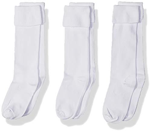 Jefferies Socks Mädchen Schuluniform Kniehoch (3 Stück) - Weiß - Medium