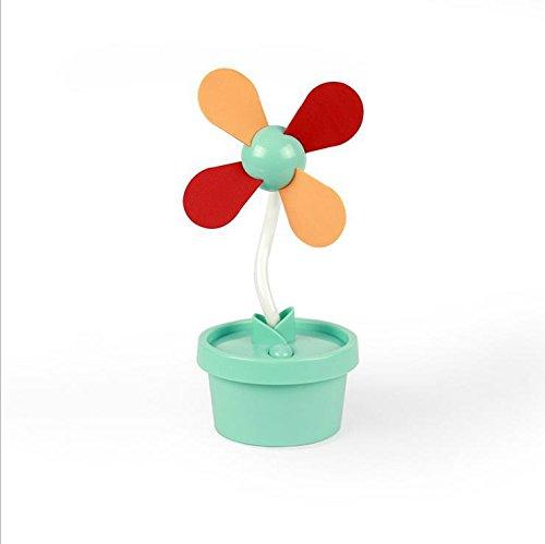 Demarkt USB-ventilator bureauventilator mini bloempot, groen