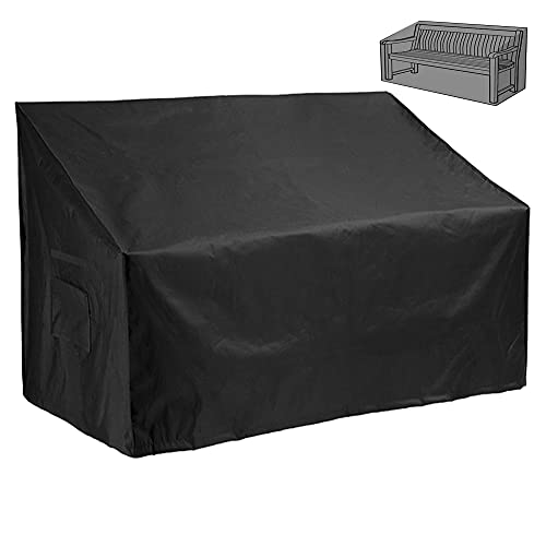 F Fellie Cover Garden Bench Cover 420D 2 Seater 53-Inch Outdoor Patio Ratten Garden Furniture Cover