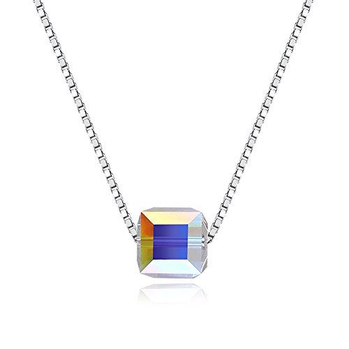Arco Iris Schmuck Damen-Halskette mit Anhänger Sterling Silber mit 4.5 Karat Smaragd und Zirkonia 45cm