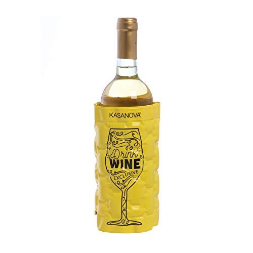 Rinfrescatore Glacette Drink, in PVC, da 9X17,5 cm Giallo