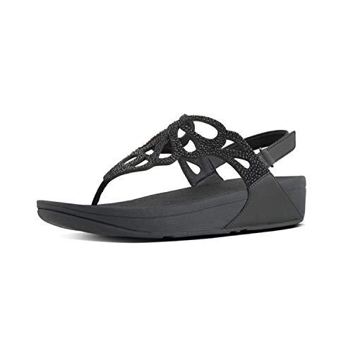 Fitflop Bumble Crystal Tm Sandal, Infradito Donna, Nero (Black 001), 39 EU