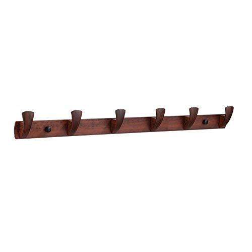 Espacio de grano anti-madera Aluminio 3 ganchos 4 ganchos 5 ganchos 6 ganchos fáciles de instalar el gancho de la fila de la capa de la capa de la pared del cojinete de carga-C4 resistente a la
