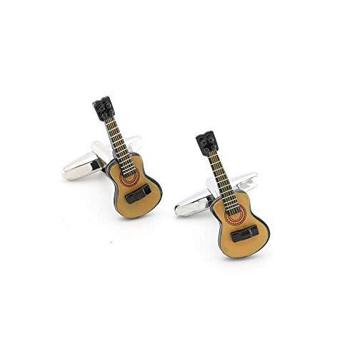 NIHAOA Brass Guitarra Gemelos for los Hombres de los Instrumentos Musicales Diseño de calidades de Color café Gemelos