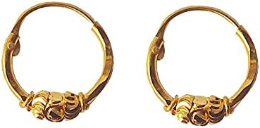 Certified Solid 22K/18K Yellow Fine Gold Gorgeous Design Hoop Earrings Available In Both 22 Carat And 18 Carat Fine Gold, For Women,Girls,Kids,Gifts,Bridal,Wedding,Engagement & Celebrations