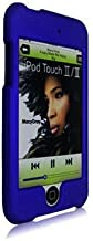 Blue Rubberized Snap-On Hard Skin Case Cover for Ipod Touch 2nd and 3rd Generation 2g 3g 2 3 8gb 16gb 32gb 64gb by Electromaster