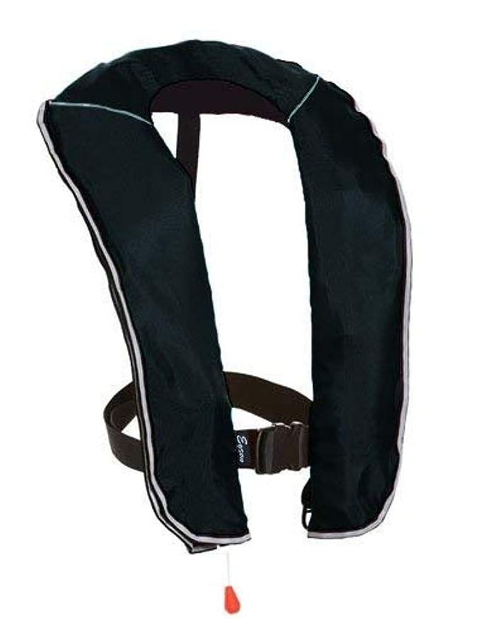 幽霊歌生むeyson(エイソン) ライフジャケット インフレータブルベストタイプ 釣り用 自動/手動膨張 救命胴衣 CE認定済