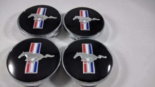 WOAIM Auto modifizierte Radabdeckung für 4Pcs 60mm Auto-Rad-Mitte-Kappen-Naben-Kappen-Running Horse Emblem Fit for...