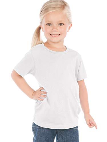 Kavio! Toddlers Crew Neck Short Sleeve Tee Jersey (Same TJC0440) White 3T