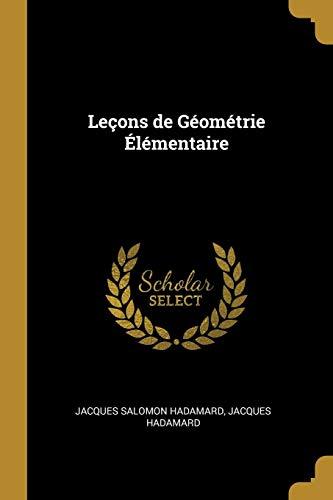 Leçons de Géométrie Élémentaire