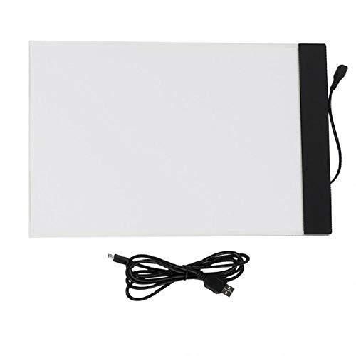 Tablero de arte LED A4 Tablero de mesa de dibujo de seguimiento de almohadilla de luz para niños Artistas Tablero de dibujo de tableta digital Sin atenuación