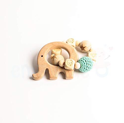 Holz Beißring, Greifling, Baby, Zahnen, Beißkette, Kleiner Elefant 2