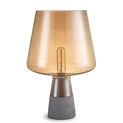 Lámpara de sobremesa, moderna minimalista Cemento de cristal mesa de dormitorio de la lámpara de cabecera del sitio living lámpara de mesa lámpara de estudio Restaurante Bar decoración de la lámpara