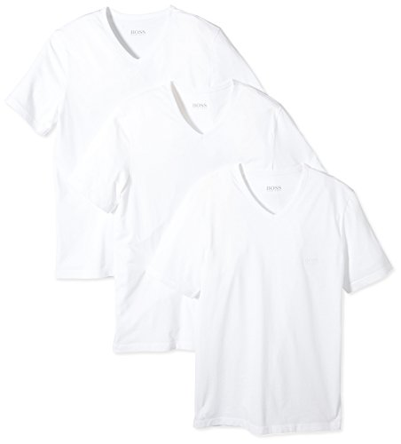 BOSS Herren SS VN 3er-Pack BM V-Ausschnitt T-Shirts, Weiß (White 100), X-Large (Herstellergröße: XL)