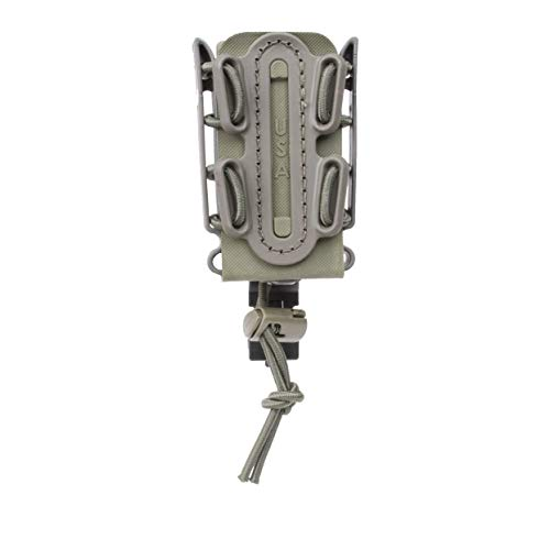 (OD Green) Soft Shell Scorpion -Short- Pistol Mag Carrier with P1 molle/Stacking Clip 100% Made in The USA (1153-1B)