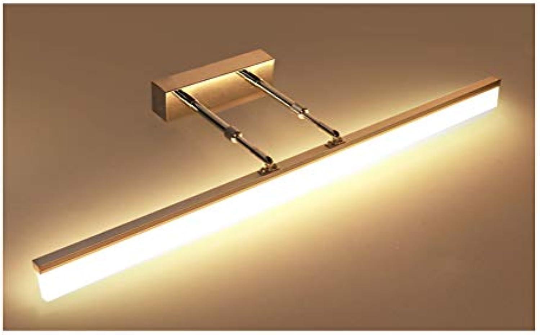 ADNFC Einziehbare Arme führten Spiegel-Scheinwerfer, moderne Badezimmer-WC-wasserdichte Nebelspiegel, warme Spiegel-Scheinwerfer (Farbe   Chrom-400mm)