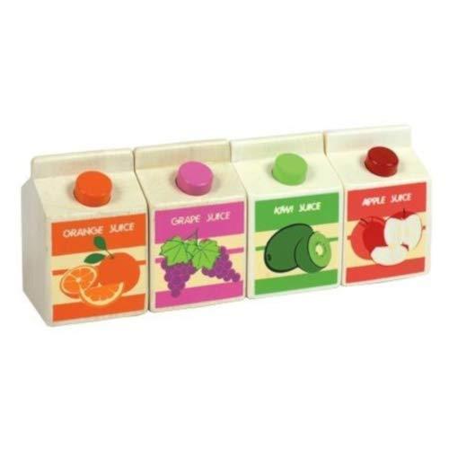Kleine Fruchtsafttüten Orangen-, Trauben-, Kiwi-, Apfelsaft mit englischer Aufschrift