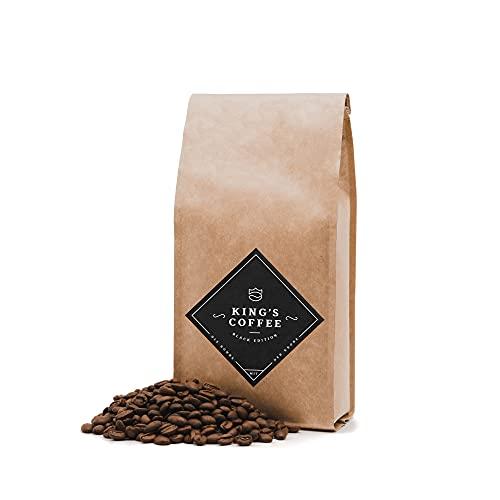 KING'S COFFEE – BLACK EDITION | Kaffeebohnen Crema Intense | säurearm | kleine Chargen-Röstung aus Italien | kräftiger Arabica-Robusta Blend für Vollautomaten