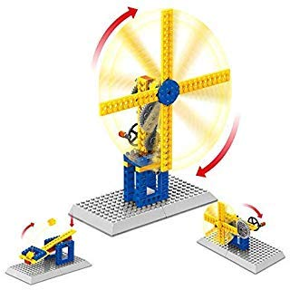 Air Fan Mechanical Gears Contraptions Craft Kit - Technic Construction Building Blocks | Children Science Engineering Educational STEM Creative Toys,3 in 1