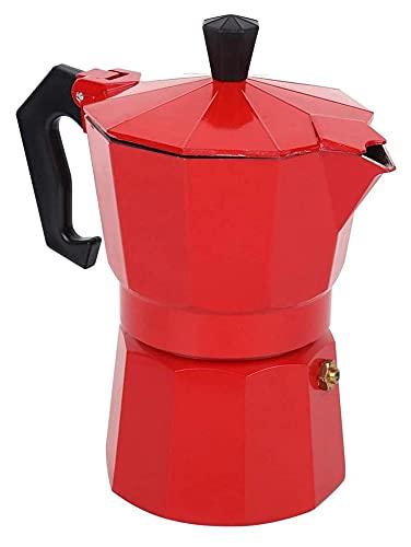 Stovetop Espresso Maker Máquina De Café Italiana De 6 Tazas Accesorios De Olla Moka De Aluminio Para Uso En El Hogar De La Oficina (Color: Rojo, Tamaño: 15X10X18.5Cm)