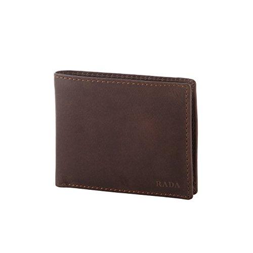 Rada Herren Geldbörse aus echtem Leder, edler Geldbeutel, Portmanaie für Männer, 14 Kreditkartenfächer, 2 Geldscheinfächer, (braun)