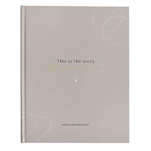 JO & JUDY® Tagebuch \'Story of your life\' - Ausfüllbuch für Eltern - das Leben der Kinder festhalten - Maße 21 x 27 cm