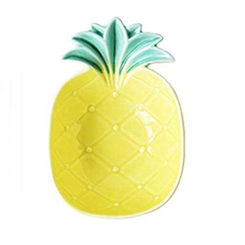 Mixing Bowls Bowl Ceramic Creative Bowl Pineapple Bowl Personality Home Bowl Good Bowl Lovely Salad Bowl Breakfast Fruit Plate (Color : Yellow, Size : 15.710.65cm)