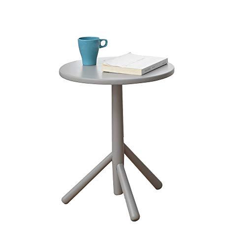 Xiaolin Table À Manger Ronde en Bois Parloir Sofa Table Basse Table D'appoint Simple Petit Espace Table De Chevet (Couleur : Gray)